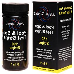 JNW Direct 6 in 1 Pool & Spa Test Strips, Best Kit for Accur