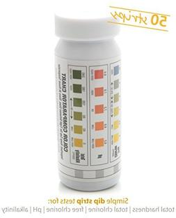 Milliard 50 Count 5 in 1 Spa and Pool Water Test Strips/Kit,