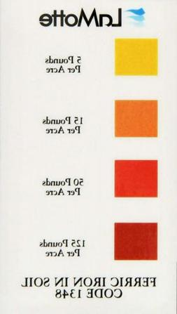 LaMotte 1348 Soil pH Test Kit Color Chart, Iron, Ferric, In