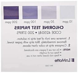LaMotte 1360 Soil pH Test Kit Color Chart, Chlorine (For 425