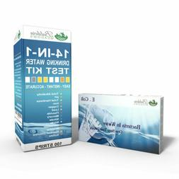 14-in-1 Drinking Water Test Strips Kit + Bacteria in Water