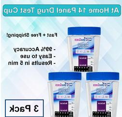 14 Panel At Home Drug Test Kit  -  Urine Drug Test Cup - Fre