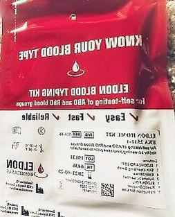2 x Blood Type Test Kit - Group Tests  - Eldoncard Testing -