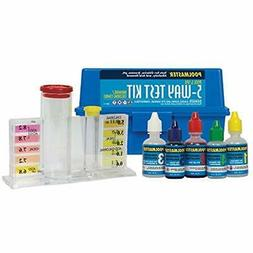 22260 5-Way Swimming Pool Or Spa Water Chemistry Test Kit Wi