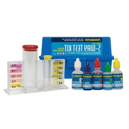 Poolmaster 22260 5-Way Test Kit with Case - Basic Collection