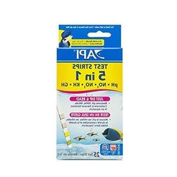 API 5-IN-1 TEST STRIPS Freshwater and Saltwater Aquarium 25-