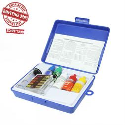5-Piece Swimming Pool / Spa Water Test Kit with Tester Block
