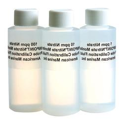 American Marine Pinpoint Nitrate Calibration Fluid Set