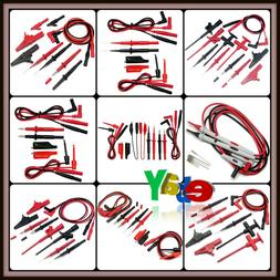 Automotive Test Lead Kit Insulation Black/Red Stainless Stee