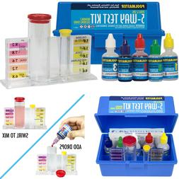 Complete Swimming Pool Water Test Kit Chlorine Bromine pH Ac
