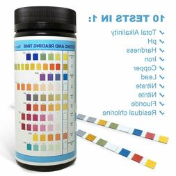 Drinking Water Test Strips Kit 10 in 1 for Tap Well Water Qu