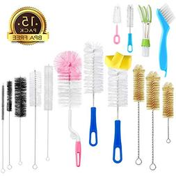 15Pcs Food Grade Multipurpose Cleaning Brush Set,Lab Cleanin