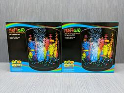 GloFish Half Moon Aquarium with Blue LED Bubbler, 3-Gallon