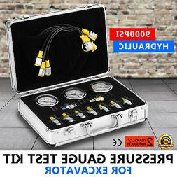 Hydraulic Pressure Guage Test Kit 9000PSI Diagnostic Test Co
