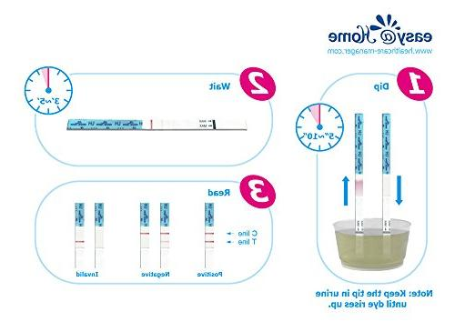 Easy@Home and Strips, Ovulation Kit Powered by Premom Predictor and Period Tracking Free