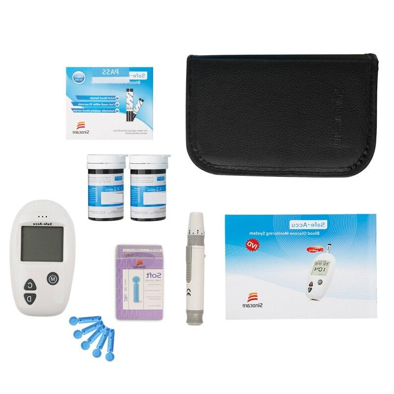 SINOCARE blood meter & & Lancets <font><b>kit</b></font> meter Diabetes Tester
