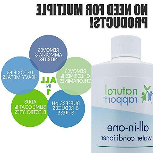 Natural Water Conditioning Fish Accessories Naturally and Removes Ammonia, Nitrite, Chlorine, Chloramine