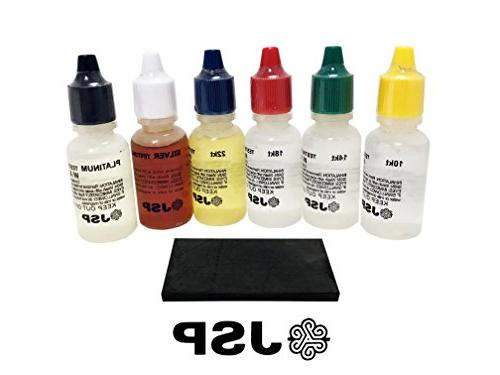 gold testing acid solutions kit