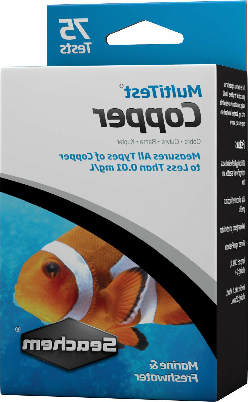 multitest freshwater saltwater aquarium multi test kit
