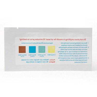 one alcohol saliva test strip