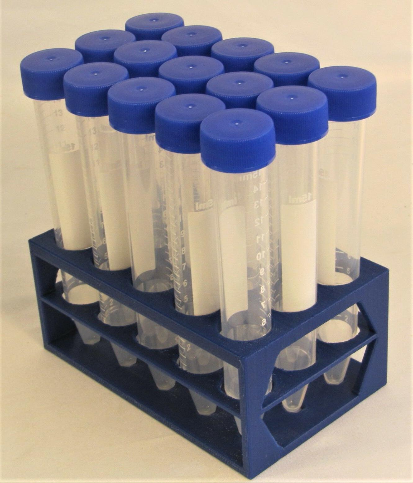 Plastic Rack & 10/15 ml 18 mm Centrifuge Test Tube Set w Sta