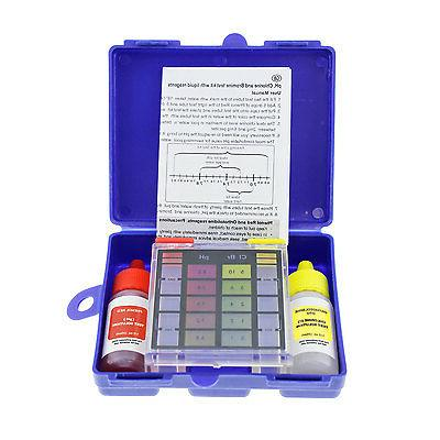 3-Way Swimming Pool & Spa Test Kit, Tests Water for pH, Chlo