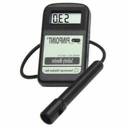AMERICAN MARINE PINPOINT SALINITY MONITOR + PROBE AND CALIBR