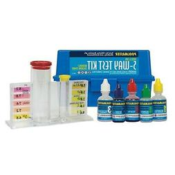 Pool Water Test Kit 5 Way Clear Test Block W /Matching Color