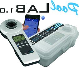 PoolLab1.0 - Electronic swimming pool water test kit with bl