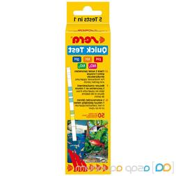 Sera Quick Test 50 Freshwater 5 in 1 Test Strips pH kH gH NO