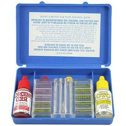 Pool Water Test Kit Chlorine Level Tool Tester Carry Case Po